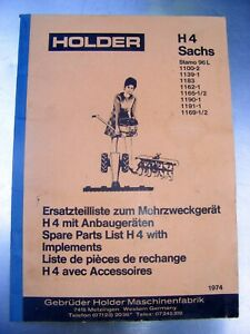 Holder H4 Ersatzteilliste Teileliste ETL ( Sachs Stamo ST96 96L )