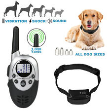 Waterproof Dog Pet Electric Shock Training Collar Rechargeable Remote 1000 Yards
