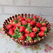 10pcs Decorative Fake Fruits Artificial Strawberry Strawberries Party Home Decor