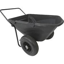 GARDEN CART - Wheelbarrow - 400 Lb Cap - 7 CF Capacity