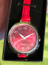 Women's Quartz Battery Avon Color Brights Strap Watch - Red - NEW NIB