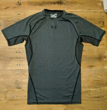 Under Armour Compression Shirt Heat Gear Men's Size M Short Sleeve Solid Gray