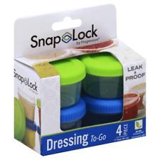 SnapLock by Progressive 4-Piece Dressing Containers NIB