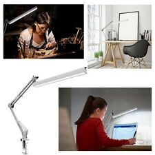 New Long Arm Desk Lamp Work Reading Adjustable Folding Clip LED Table Light Lamp
