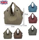 Women Ladies Canvas Tote Bag Shoulder Handbag Messenger UK