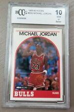1989-1990 Hoops Michael Jordan Chicago Bulls #200 Beckett BCCG 10 The Last Dance