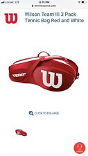 wilson team tennis bag red and white