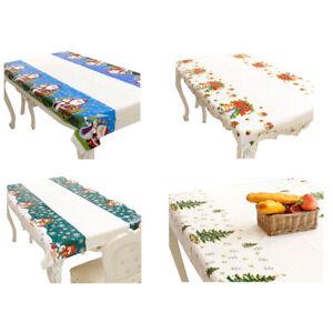 1X(Weihnachten Einweg Tischdecke Festliche Rechteck Laengliche Tischdecke WL5S2)