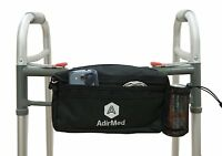 AdirMed Black Wheelchair Walker Pouch Bag Many Pockets 990-01