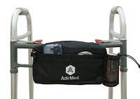 AdirMed Black Wheelchair Walker Pouch Bag Many Pockets 990-01