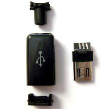 Connecteur à souder Micro USB 5 broches +Boitier 3 pièces /Connector 5 pins +Box