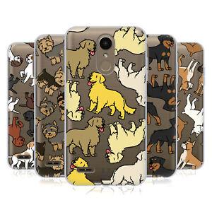 HEAD CASE DESIGNS DOG BREED PATTERNS 3 SOFT GEL CASE & WALLPAPER FOR LG PHONES 1