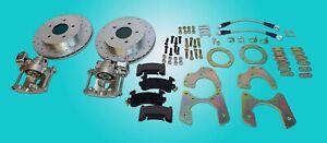 1955-1964 Pontiac Oldsmobile Rear Disc brake Conversion 5 ON 5 braided hoses
