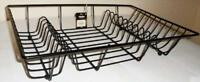 Metal Wire Dish Drainer Kitchen in BLACK COLOR Plate Draining Rack Holder