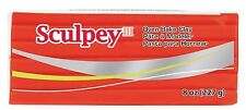 SCULPEY III - Polymer Clay - 227 gm BLOCK - RED HOT RED