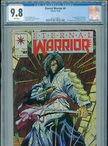 1992 VALIANT ETERNAL WARRIOR #4 1ST APPEARANCE BLOODSHOT CGC 9.8 WHITE BOX8