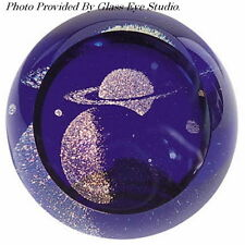 Saturn~Celestial Series Paperweight by Glass Eye Studio~Made in the Usa~482F
