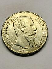 1866-Mo Mexico 1 Peso Maximilian Silver XF+ #13069