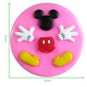 Disney Mickey Mouse (Head Body Hands & Feet) Silicone Mould by Fairie Blessings