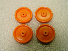 Set of 4 Orange 1 inch candy container wheels