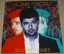 Robin Thicke Authentic Signed 12x12 Blurred Lines Photo Autographed