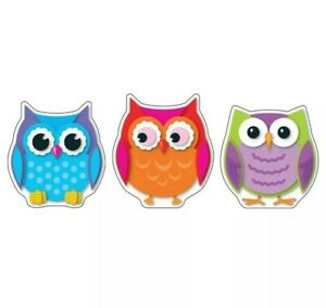 Colorful Owls Cut-Outs by Carson-Dellosa  - Colorful Owls Cut-Outs