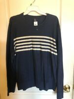 Gap Men's Blue & White Lightweight Sweater - Large - NWT