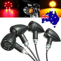 4pc Motorcycle Bullet LED Turn Signal Indicator light Tail Brake Running Lamp AU