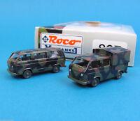 Roco Minitanks H0 807 Set 2x VW T3 DoKa & Bus getarnt Bundeswehr HO 1:87 OVP