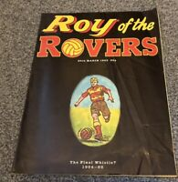 ROY OF THE ROVERS THE FINAL WHISTLE COMIC 20th MARCH 1993