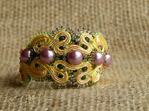 Soutache Bracelet with Cultured Pearls
