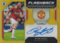 2019-20 Panini Prizm Premier League  Ryan Giggs GOLD Flashback Auto #7/10 Man U
