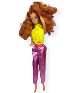 Vintage Nude 80's  Barbie and The Rockers Red Hair Diva Midge Barbie Doll