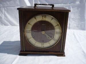 ORBIS Tischuhr Kaminuhr Holzuhr mit Messing Uhrwerk und Westminster Gong