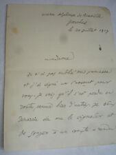 Lettre autographe Emile Baumann 20 juillet 1929 Écrivain Français