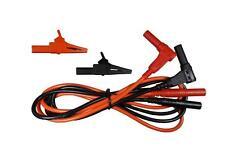 Test Cable Lead SILICONE [3 ft] w/ 1000V Alligator Clip Banana Plug Male-Male