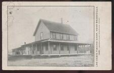 Postcard BROOKVILLE Indiana/IN  Log Cabin Fishing Camp view 1907?