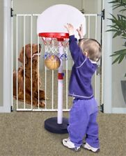 Stairway Baby Gate, Pet Stair Gate, Heavy Duty Permanent Mount Design - NEW