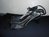 Caparros Women's SIZE 8 BLACK Ankle-Strap Heel Sandals FREE SHIPPING!