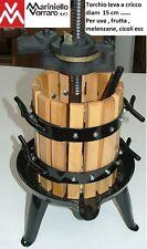 torchietto a cricco diam 15cm per uva, melenzane, cicoli gabbia in legno 15x25cm