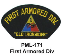 """FIRST ARMORED DIV - Embroidered Military Large Patch, 4"""", NEW"""