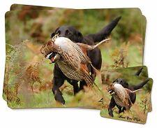 Labrador with Pheasant /'Love You Dad/' Single Leather Photo Coaster Ani DAD-64SC