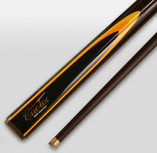 REAL Cuetec Graphite Pool Snooker Billiard Cue Burgundy Cue tec Yellow flame