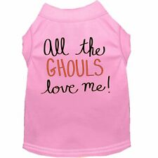 Mirage Pet Products All the Ghouls Screen Print Dog Shirt Light Pink XS (8)