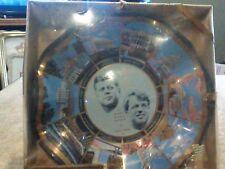 Vintage John F Kennedy & Robert F Kennedy Souvenir Fluted Glass Dish