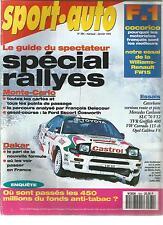 SPORT AUTO 1994 N° 384 RALLY WRC MONTE CARLO RALLY PARIS DAKAR DIDIER AURIOL