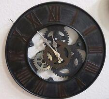 Horloge murale montre en métal montre équipement métal rond gris brun argent