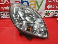 RENAULT KANGOO HEADLIGHT/HEADLAMP (DRIVER SIDE)  SL 17 DCI VAN 2008