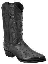 Men's White Diamonds Ostrich Print Cowboy Western Boots J Toe Handmade