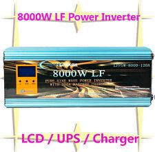 32000W Peak 8000W LF Pure Sine Wave Power Inverter 24VDC/110VAC LCD/UPS/Charger